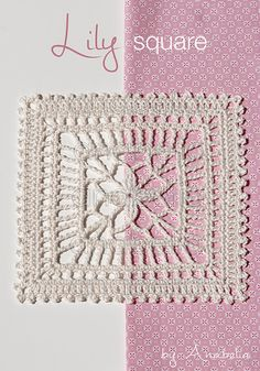 Summery crochet square! PDF pattern