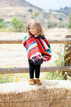 Kids Mexican Serape Poncho by CALIFORNIAPONCHO on Etsy