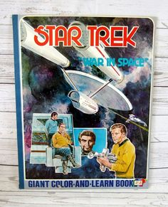 Star Trek 1978 Giant Color and Learn Book War In Space Parkes Run 17 x 22 #ParkesRun #1978 #ColorAndLearn #WarInSpace #Star #Trek #StarTrek