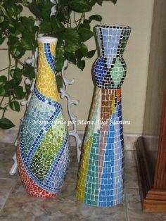 Dupla de vasos com mosaico