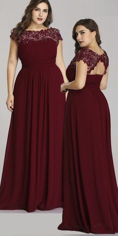 In Stock Graceful Lace & Chiffon Jewel Neckline A-line Mother Of The Bride Dress… In Stock Graceful Lace & Chiffon Jewel Neckline A-line Mother Of The Bride Dresses With Beadings Bridesmaid Dresses Plus Size, Plus Size Party Dresses, Dress Plus Size, Plus Size Gowns, Elegant Dresses, Beautiful Dresses, Evening Dresses, Prom Dresses, Chiffon Dresses
