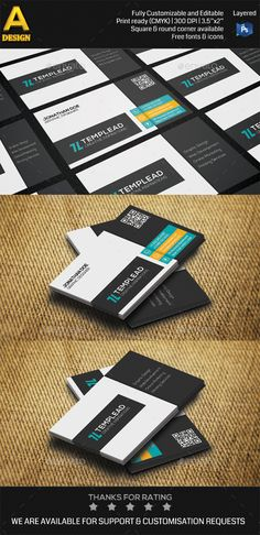 Modern Corporate Business Card Template PSD | Buy and Download: http://graphicriver.net/item/modern-corporate-business-card-an0494/8927890?WT.ac=category_thumb&WT.z_author=annozio&ref=ksioks