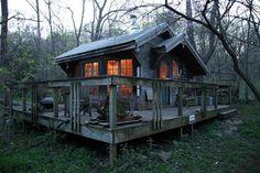 Cathy Johnson's tiny place at dusk