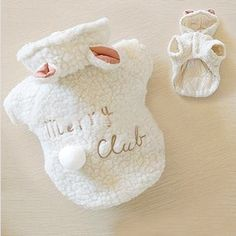 Pet Puppy Dog Clothes Cute White Sheep Warm Hoodie Coat Apparel XS s M L XL | eBay