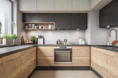Modern Kitchen Interiors, Luxury Kitchen Design, Kitchen Room Design, Kitchen Cabinet Design, Home Decor Kitchen, Interior Design Kitchen, Home Kitchens, Kitchen Ideas, U Shape Kitchen