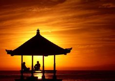 sunrise at Sanur Beach