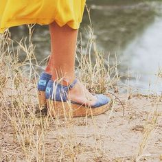 Chambray Platform Wedges by Toms $67