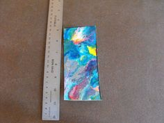 Original Abstract Expressionism Watercolor Mini Painting A10 #Expressionism