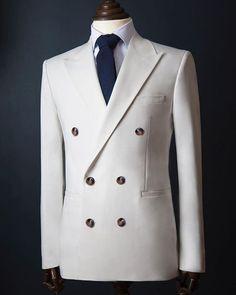 Men's Double Breasted Coat Blazer / Tuxedo Jacket New Arrival Premium Fabric / Men's White Formal Coat Blazer /Wedding Suit for men Mens Formal Coats, Formal Attire For Men, Dress Suits For Men, Formal Jacket, Mens Fashion Suits, Mens Suits, Fashion Shoes For Men, Designer Suits For Men, Stylish Mens Outfits