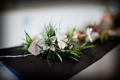 Love in a mist buttonhole