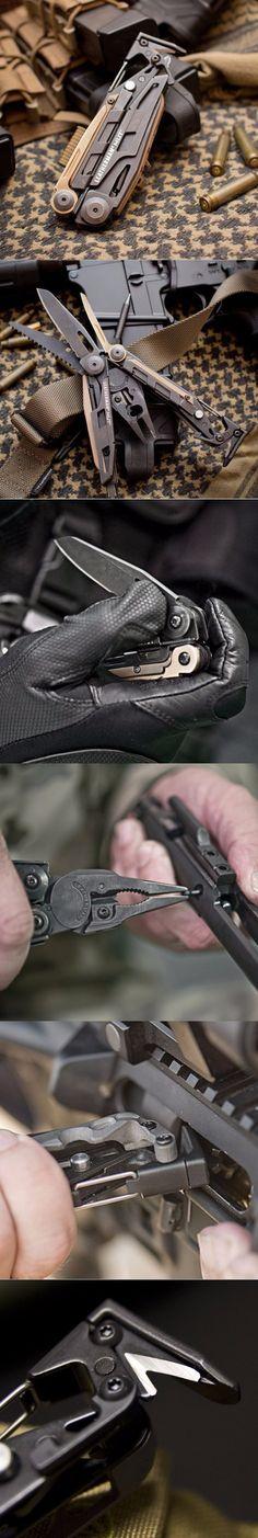 Leatherman - MUT EDC Multi Tool Rifle Maintenance Tool, Black with Molle Brown Sheath @aegisgears