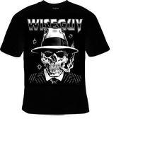 TShirts:  wise guy  skeleton skulls smoking bikers tee shirt