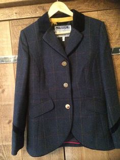 Joules Stowford Tweed Navy Women s Jacket Size 12