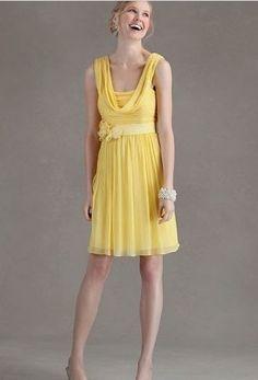 Discount Chiffon Column Short Bridesmaid Dress Free Measurement
