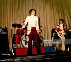 Photo of Roger DALTREY and Pete TOWNSHEND and The Who; Roger Daltrey & Pete Townshend performing live onstage at the RKO Theatre