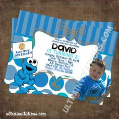 cookie monster party ideas | Cookie Monster Birthday Invitations | Party ideas