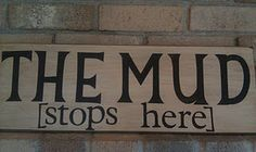Antiqued painted wood sign