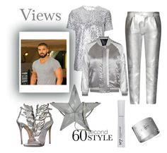 """""""VIEWS. #drake #views #60seconstyle #trendy #spring #love #fashion #fabulous #classy. #lemonade #silver #monochrome #monocromatic"""" by thedistinctiveme ❤ liked on Polyvore featuring Nina Ricci, Tod's, Giuseppe Zanotti, Moschino and Topshop"""