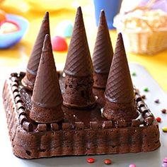 Tarta de cumpleaños de chocolate. Muy facil!