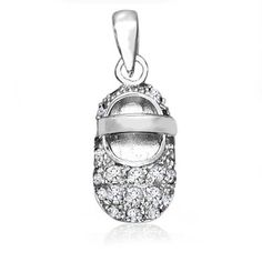 Bling Jewelry Moonstone Color CZ Baby Shoe Charm 925 Silver Pendant June Birthstone Bling Jewelry. $32.99. Baby shoe charm pendant. Weighs 2 grams. Moonstone color CZ. Chain is not included. Rhodium plated sterling silver