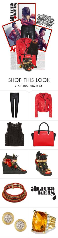 """""""Alicia Keys..New York City Girl"""" by shortyluv718 ❤ liked on Polyvore featuring J Brand, 7 For All Mankind, Vince Camuto, MICHAEL Michael Kors, Giuseppe Zanotti, Marco Bicego, David Yurman, women's clothing, women's fashion and women"""