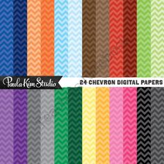 Basic Digital Paper - Chevron from Paula Kim Studio on TeachersNotebook.com -  (24 pages)  - Basic Digital Paper - Chevron Pattern