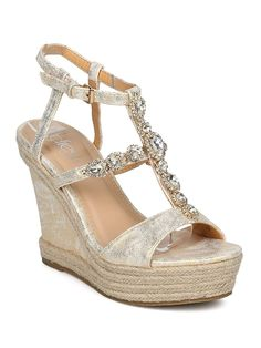 e6965d3c3eeb3f Alrisco Women Metallic Open Toe Rhinestone Espadrille Platform Wedge Sandal  HD39   Do hope that you