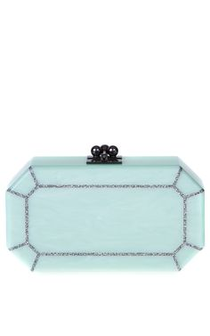 Fiona Faceted In Mint by Edie Parker, Fall-Winter 2014. (=)