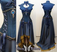 blue corset gown inspired by Daenerys from Game of Thrones Beautiful Gowns, Beautiful Outfits, Game Of Thrones Dress, Costume Carnaval, Blue Corset, Alternative Mode, Fantasy Gowns, Medieval Dress, Gothic Steampunk