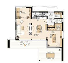Kötz Haus - Ziegelmassiv und schlüsselfertig Bungalow, House Plans, Floor Plans, How To Plan, Steam Punk, Lisbon, Houses, Save Energy, House Construction Plan