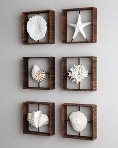 Faux Coral Shadowboxes - Horchow