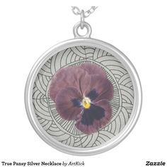 True Pansy Silver Necklace