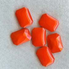 bright orange cabochons- made in Germany 1930's - item # G-rhinestone found at the warehouse of www.wildthingsbead.som