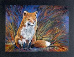Art: RED FOX in PASTEL by Artist Marcia Baldwin