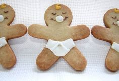 Baby shower inspiration. Use gingerbread cutter for babies.