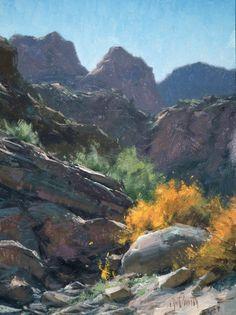 """Matt Smith ~ hike up Tortilla Creek. 12"""" x 9"""""""