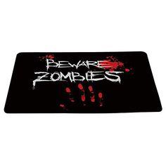 facb6b2c09 Wizardry1986 Beware Zombies Doormat Floor Mat with Non-Slip Backing Bath  Mat Rug Excellent Doormat