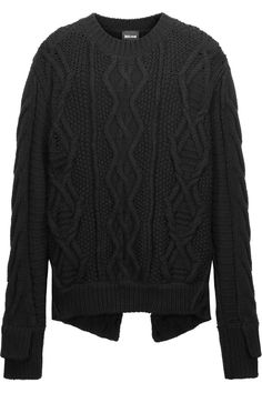 JUST CAVALLI Cable-Knit Wool Sweater. #justcavalli #cloth #sweater