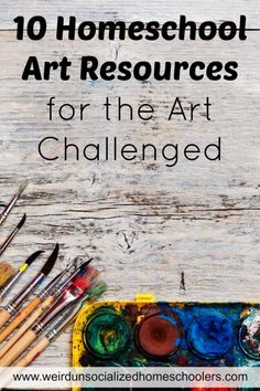 10 Homeschool Art Resources for the Art Challenged