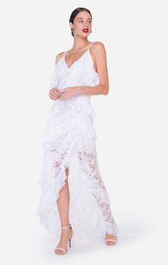 09c9fe460a Comprar vestido branco longo de renda Vestido Branco