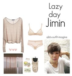 """lazy day with jimin"" by effie-james ❤ liked on Polyvore featuring art, simple, kpop, korean, bts and jimin"