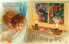If you wish to keep the witches out and be safe on old Halloween, draw a double cross upon the sill where it surely will be seen   HALLOWEEN