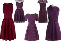 Purple Dresses. Not usually a purple fan but these are cute
