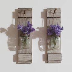 Mason Jar Sconces/Shabby Chic Home Decor/ Mason Jar/Wood Candle Holder/Country Decor/Cabin Decor