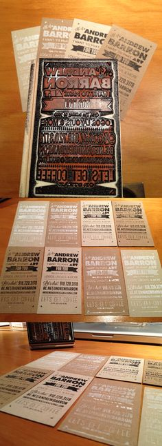 This could be an awesome idea for a casual wedding invitation. // business card stamp