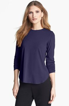 Eileen Fisher Stretch Jersey Crewneck Tee available at #Nordstrom