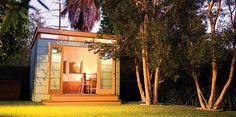 Modern-Shed& Contemporary Living Garden Living Spaces Backyard Office, Backyard Studio, Backyard Sheds, Prefab Office, Modern Shed, Seattle Homes, Wood Siding, Garden Living, Tiny House Plans