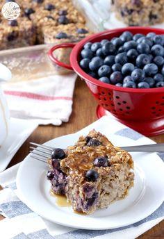 Healthy Blueberry Banana Bread Baked Oatmeal