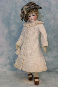 "16"" Antique French Fashion Doll by Eugene Barrois C 1870s Chantilly Face Dressed 