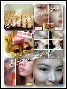 Thailand Beauty Products: Before And After Using Freshy Face Gold Set